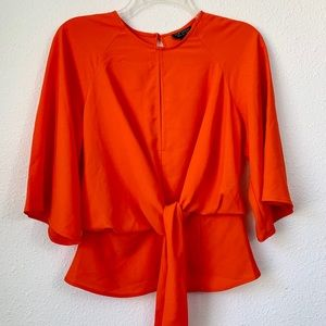 🆕 Topshop Slouchy Knot Front Blouse Top Size 2